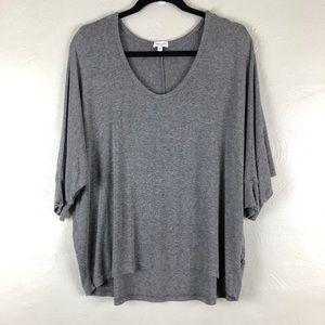 Splendid REVOLVE Gray Drapey Lux Dolman Sleeve Top